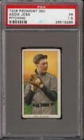 Rare 1909-11 T206 HOF Addie Joss Pitching Piedmont 350 Cleveland PSA 1.5