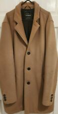 Topman size L mens 40-42in chest camel coloured vintage 3/4 length coat
