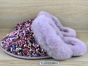 UGG Women's Scuffette II Stellar Sequin Size 7 Slipper Lilac Frost
