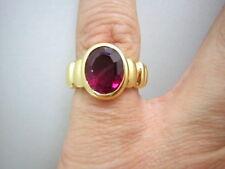 PINK TURMALIN RING IN 750/000 GELBGOLD MASSIV LUXUS PUR EIN TRAUM GR: 51 T254