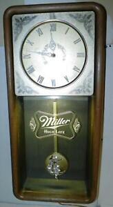 VTG WORKING 1984 Miller High Life BEER LIGHTED LIGHT-UP BAR ELECTRIC WALL CLOCK