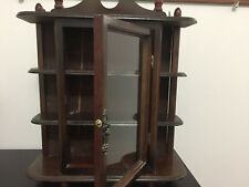 Wooden Curio Shelf for Display of Small Porcelain - 1980 - Good Condition