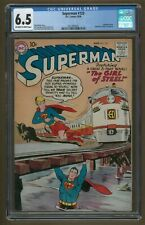 Superman #123 CGC 6.5 FN+ OW/W (DC 8/1958) 1st Supergirl Tryout, Scarce