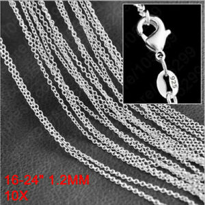 10pcs Wholesale Cross Snake Chain 925 Sterling Silver Plated Necklaces Jewelery