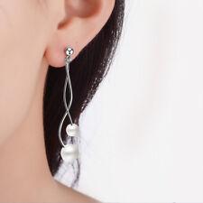 Wave Simulation Pearl Ear Line Earrings Hypoallergenic Wedding Jewelry Sweet