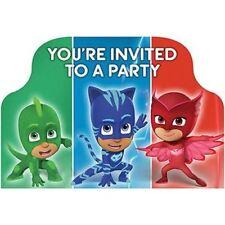 PJ Masks Invitations x 8 Birthday Invites Party Supplies