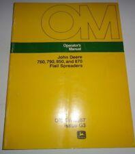 John Deere 760 790 850 870 Manure Spreader Operators Manual Original! Jd