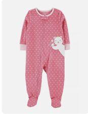 NWT carters fairy teddy bear crown pajamas 4t 4 sleeper feet footed union suit