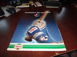 Montreal Expos baseball club calendar 1987 mlb players rare galaragga brooks