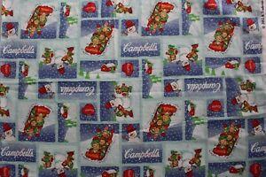 Campbells Soup Children Christmas Fabric 2002