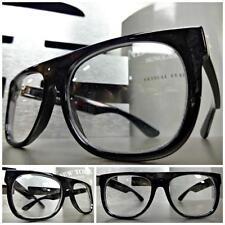 Mens or Women COOL VINTAGE RETRO Style Clear Lens EYE GLASSES Hipster Nerd Smart