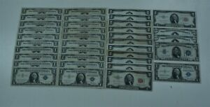 $60 Dealer lot Silver+Red Certificate Lot  *Free S/H After 1st Item*