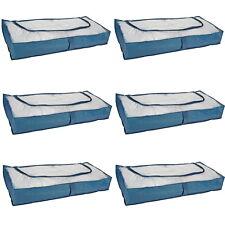 6 Stück Unterbett Kommode Unterbett Aufbewahrung Unterbettkommode Kommoden BLAU