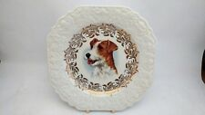 """Lord Nelson Pottery Dog Plate - Spaniel - 8 1/2"""" Square"""