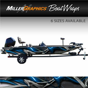 Typhoon Blue Boat Wrap Kit 3M Cast Vinyl Graphic Decal - 6 Sizes Available