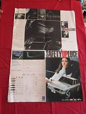 """N° 2018 / MAZDA """" safety up LUCE """"  depliant poster 1972-1978 ? JAPANESE TEXT"""