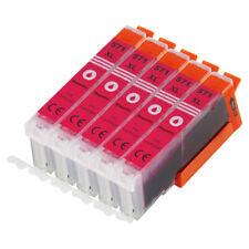 5 cartouches magenta pour CANON 571 Pixma mg5750 mg6850 mg7750 ts5050 ts6050