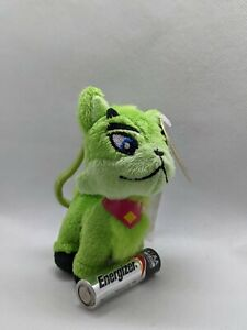 NEW Neopets Plush green Ixi PetPet w/ clip Limited Too Vintage Plushie nwt 2007