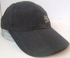 Moosehead Beer Moose Light Black Grey Plaid Hook Loop Fastener Cap Baseball Hat