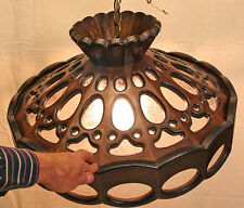 Hand Carved wood hanging dining room fixture