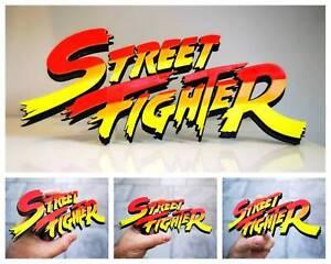 Street Fighter 3D logo / shelf display / fridge magnet - gaming collectible