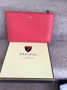 Aspinal Of London Coral Clutch/Pouch