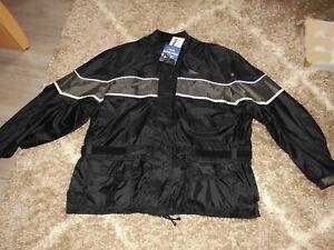 GERMAS * Übergröße * Regenjacke wasserdicht schwarz-grau Gr. 64/66 * NEU