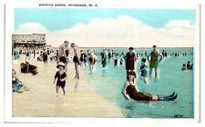 1924 Bathing Scene at Wildwood, NJ Postcard