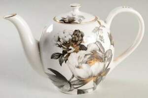 Grace's Teaware Peony Black and Gold Coffee Pot 10537619