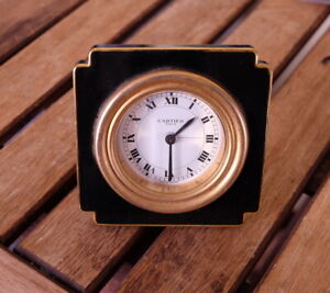 Cartier clock alarm mechanical calibre 949 from the '70s  [CL_111] vendome PARIS