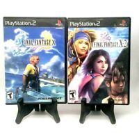 Final Fantasy X + X-2 Bundle Sony PlayStation 2 PS2 Complete Very Good Resurface