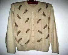 New listing Vtg I. Magnin Cardigan Sweater Frances Lesley Knit Cashmere Beads Beaded