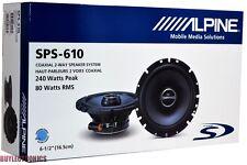 "Alpine SPS-610 6-1/2"" Car Speakers/ 6.5"" Car Audio Speaker Type S Series SPS610"