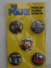POLICE / STING photos BUTTON BADGE PACK OF 5 ex tour merchandise
