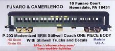 LMH Funaro F&C 203 P-203  ERIE STILLWELL  Passenger Car COACH Kit 1-PC w/ TRUCKS