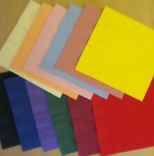50 Top Quality Duni 40cm 3 Ply Paper Napkins Birthday Wedding Colours Serviettes