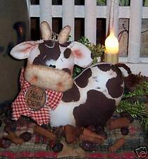 Primitive Country Cow Doll Shelf Ornie Paper Pattern #435