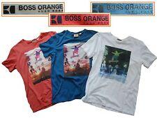 NWT Hugo Boss Orange Label By Hugo Boss LOGO Tee T-Shirt with Printed Design