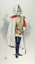 AUTRICHE-HONGRIE : ARCHER de la GARDE du CORPS - Gravure couleur du 19e siècle