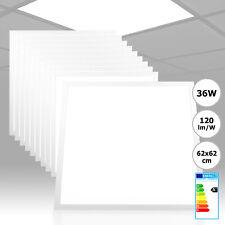 10x Xtend LED Panel 62x62 Kaltweiß 36W 4320lm 6000K 120lm/W Rasterleuchte PMMA