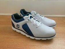 New Footjoy Pro Sl Men's Golf Shoes White/Blue 53584, Size 9.5M