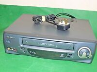 DAEWOO Q857P VCR VHS VIDEO CASSETTE RECORDER Vintage Dark grey Fully Tested