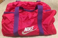 d460bddfba Nike Duffle Bag Vintage 80s 90s Gym Duffel Gray Tag Adjustable Strap  Pink Purple