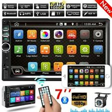"""7"""" 2 DIN Car Stereo Radio Bluetooth USB AUX Touch Screen MP3 MP5 Player+ Camera"""