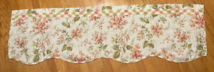 Set Of Pastel Floral Scalloped Valance green pink yellow Better Homes & Gardens