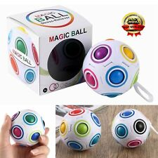 Educational Rainbow Ball Magic Cube Speed Twist Puzzle Intelligence Toys Gift ZD