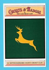 CRICKET  -   POSTCARD  -  CRESTS  &  BADGES  -  NOTTINGHAMSHIRE  C.C.C.