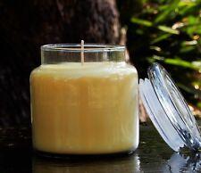 LEMON MANDARIN Essential Oil Scented HUGE 900g SOY JAR CANDLES 150hr SNUFFER LID