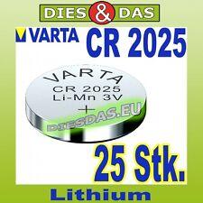25 Stk. Varta CR 2025 Knopfzelle Knopfbatterie lose