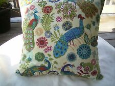 """Accent Throw pillow COVER 16""""  Peacock floral"""